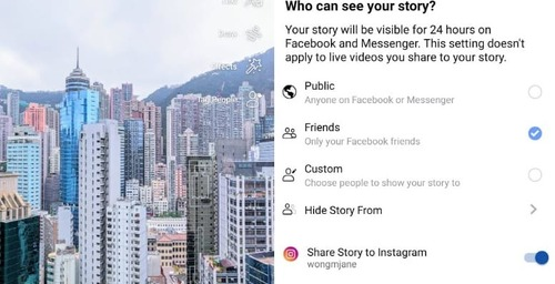Facebook and Instragram: Multiplatform Stories