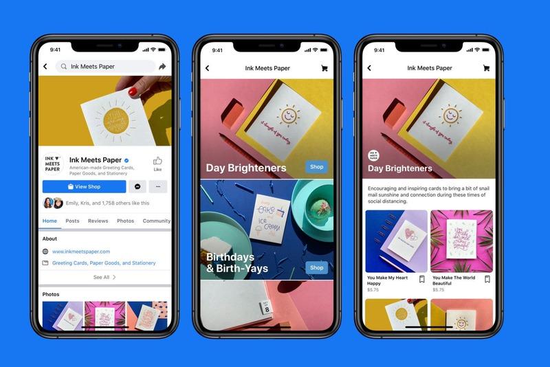 Tiendas en línea con Facebook Shops