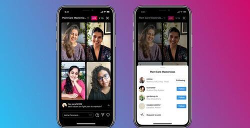 Salas ao vivo: ao vivo no Instagram com convidados