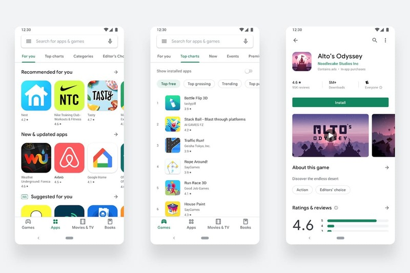 Google Play se renueva