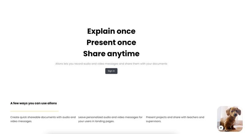 Allons: Una app para insertar vídeos y audios en tus documentos