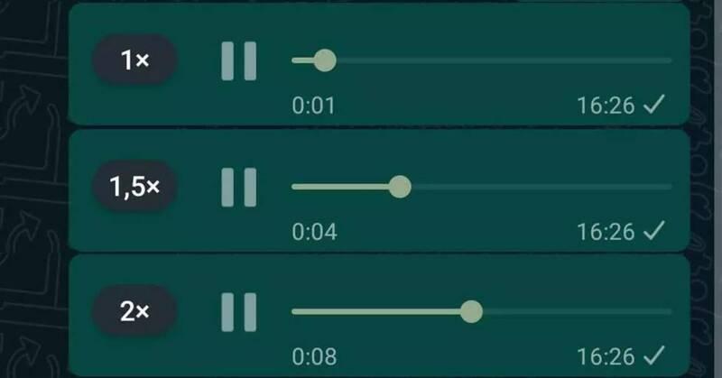 WhatsApp: Mensajes de audio a la velocidad que elijas