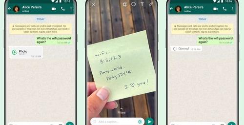 Visualización por única vez de fotos y videos en WhatsApp