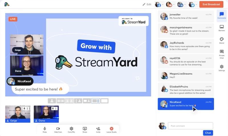 StreamYard: transmisiones en vivo vía streaming
