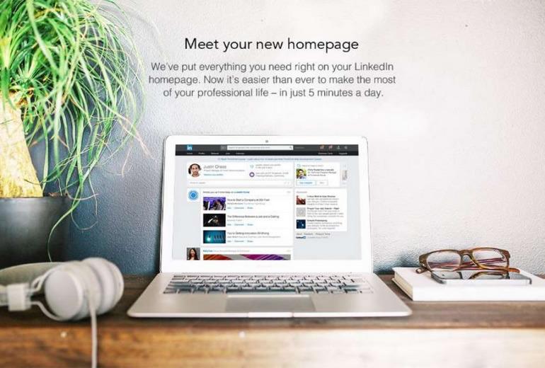 LinkedIn, simplifica su portal principal