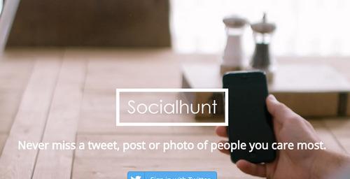 SocialHunt organiza tu timeline de twitter
