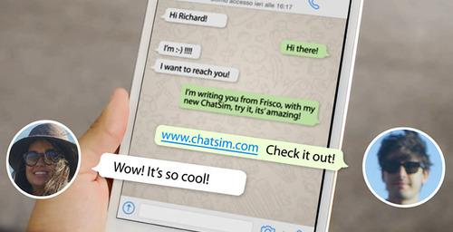 ChatSim, la tarjeta SIM para dar servicio sin conexión de datos