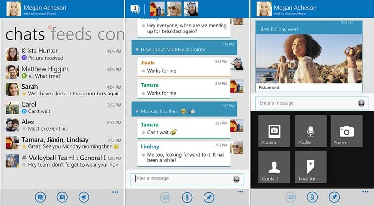 BlackBerry Messenger, ahora en Windows Phone