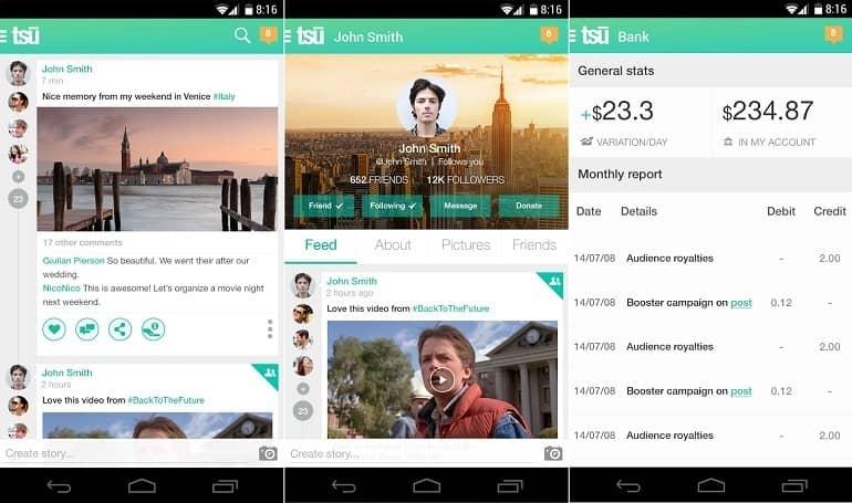 Tsū, la nueva red social que reparte ganancias con sus usuarios