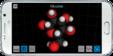Device android landscape molecule balls
