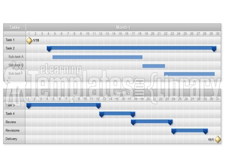 Gantt charts graphic for powerpoint presentation templates toneelgroepblik Images