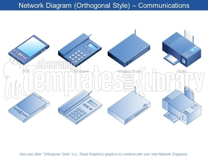 Network Diagrams Graphic For Powerpoint Presentation Templates