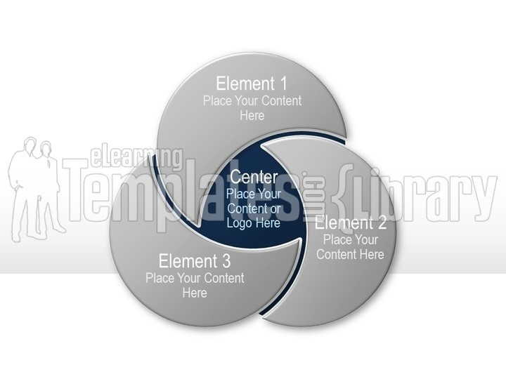 venn diagrams graphic for powerpoint presentation templates -, Modern powerpoint