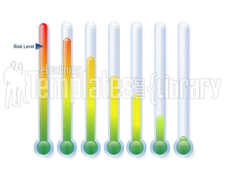 Powerpoint Gauge Graphic Chart - Thermometer Template -