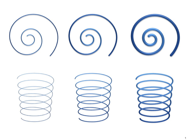 powerpoint spiral graphic template for ppt