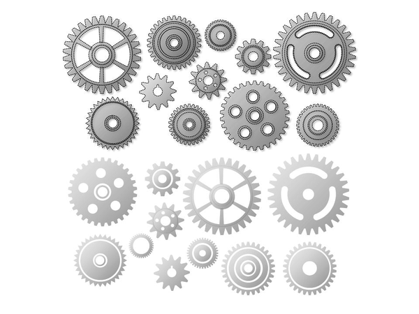 Gear Graphics Graphic for PowerPoint Presentation Templates