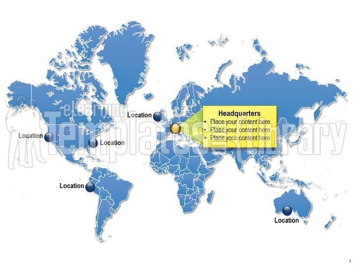 PowerPoint Map Graphic World Templates Template PPT For Globe