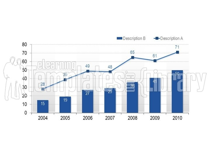 PowerPoint Line Chart Graph Background Presentation Graphics And