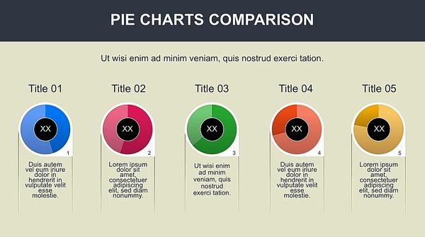 Shamrock Style Pie Chart Powerpoint