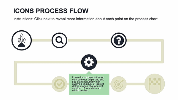 powerpoint hub and spoke template process flow diagram chart graphic