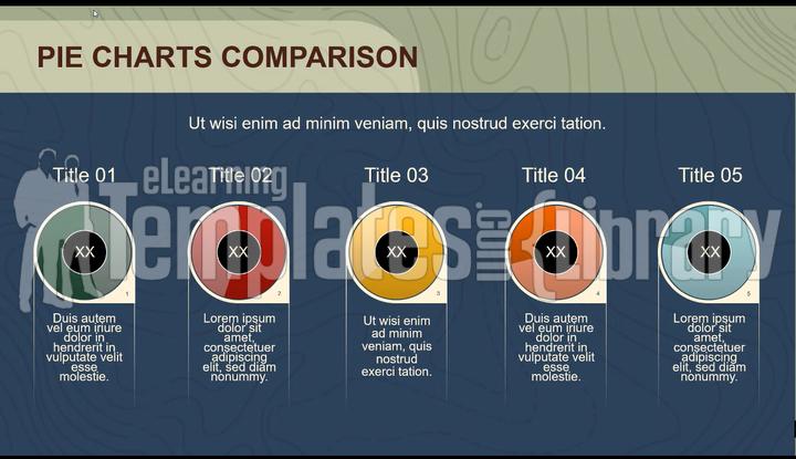 powerpoint, microsoft powerpoint, powerpoint pie chart, pie chart, pie, comparison, chart, presentation, present, animation, animated