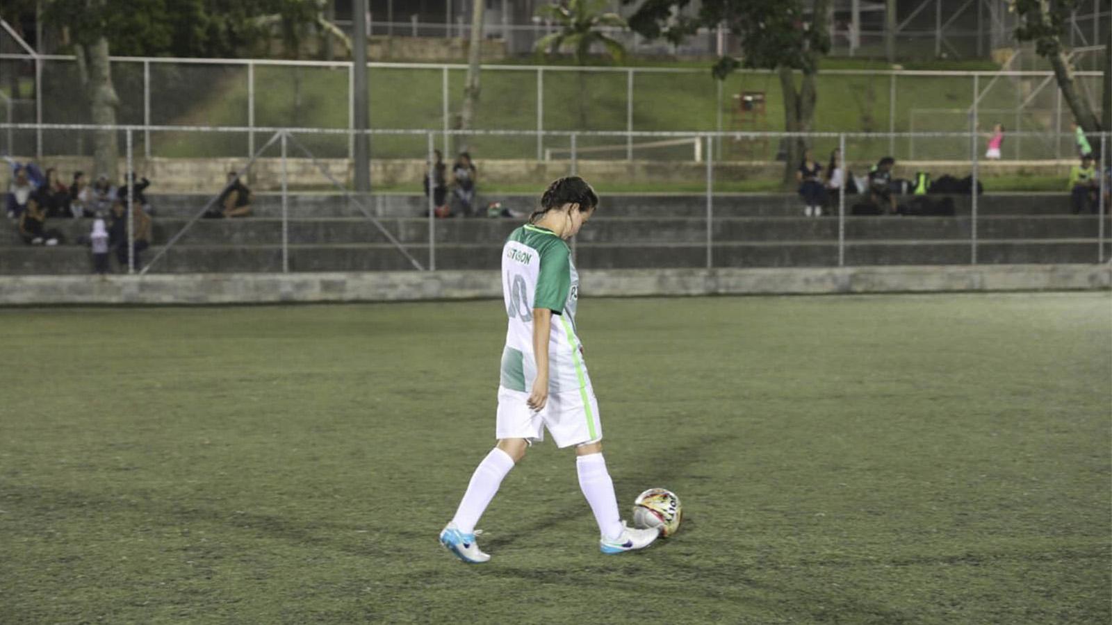 María Fernanda, el futuro del fútbol en Briceño