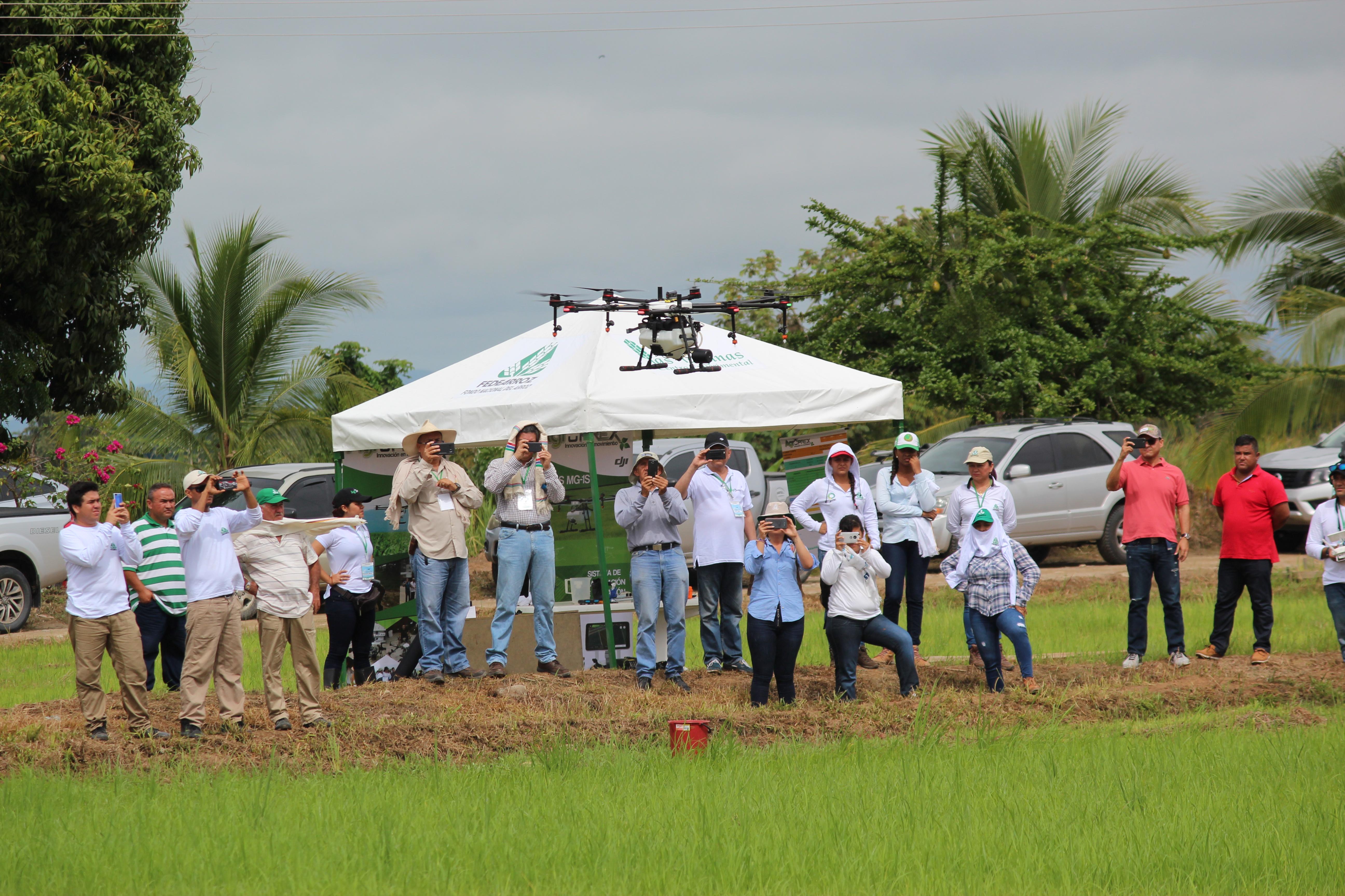 Los drones que prometen transformar la siembra de arroz en Colombia