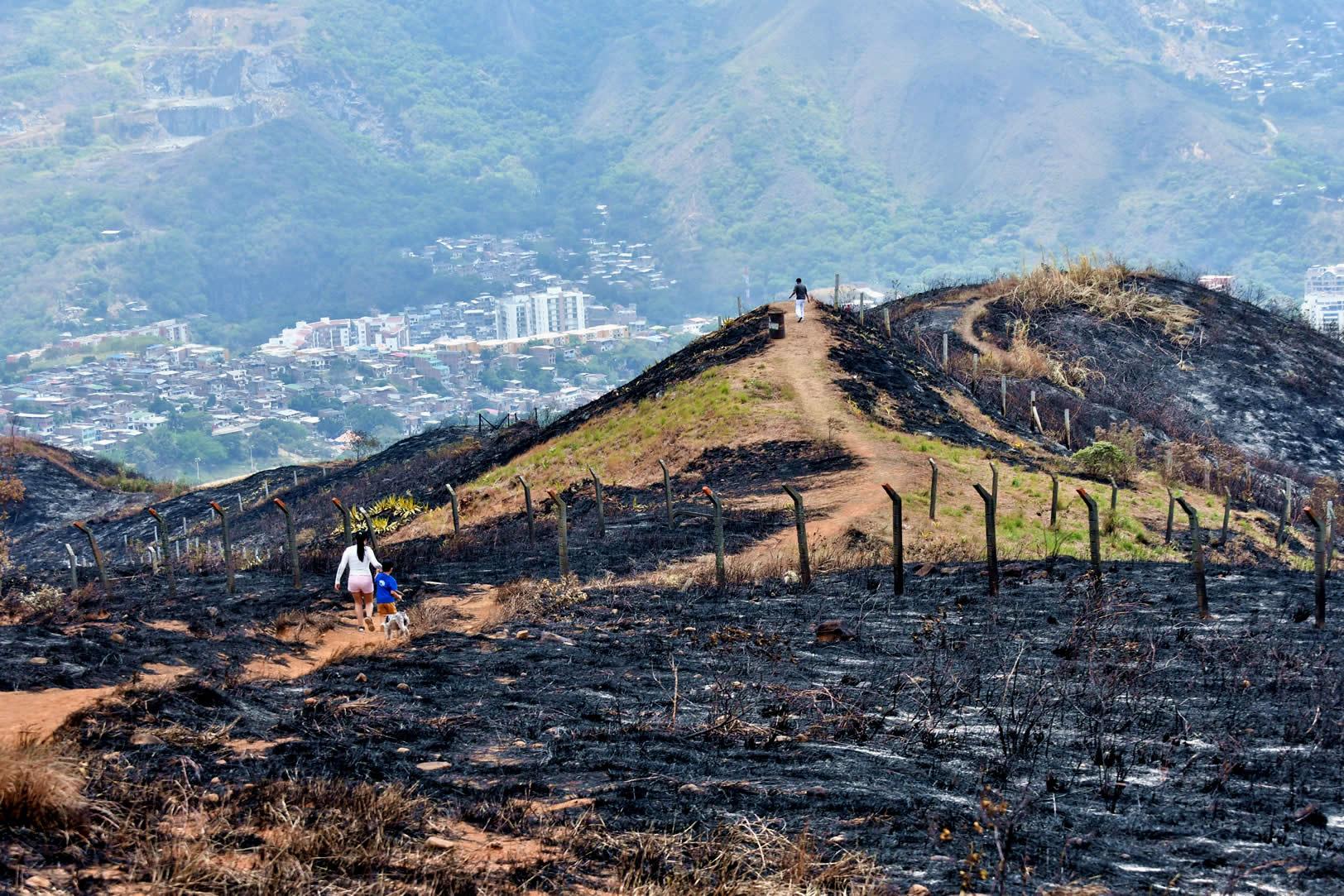 Lo que hay detrás de los incendios en los cerros de Cali