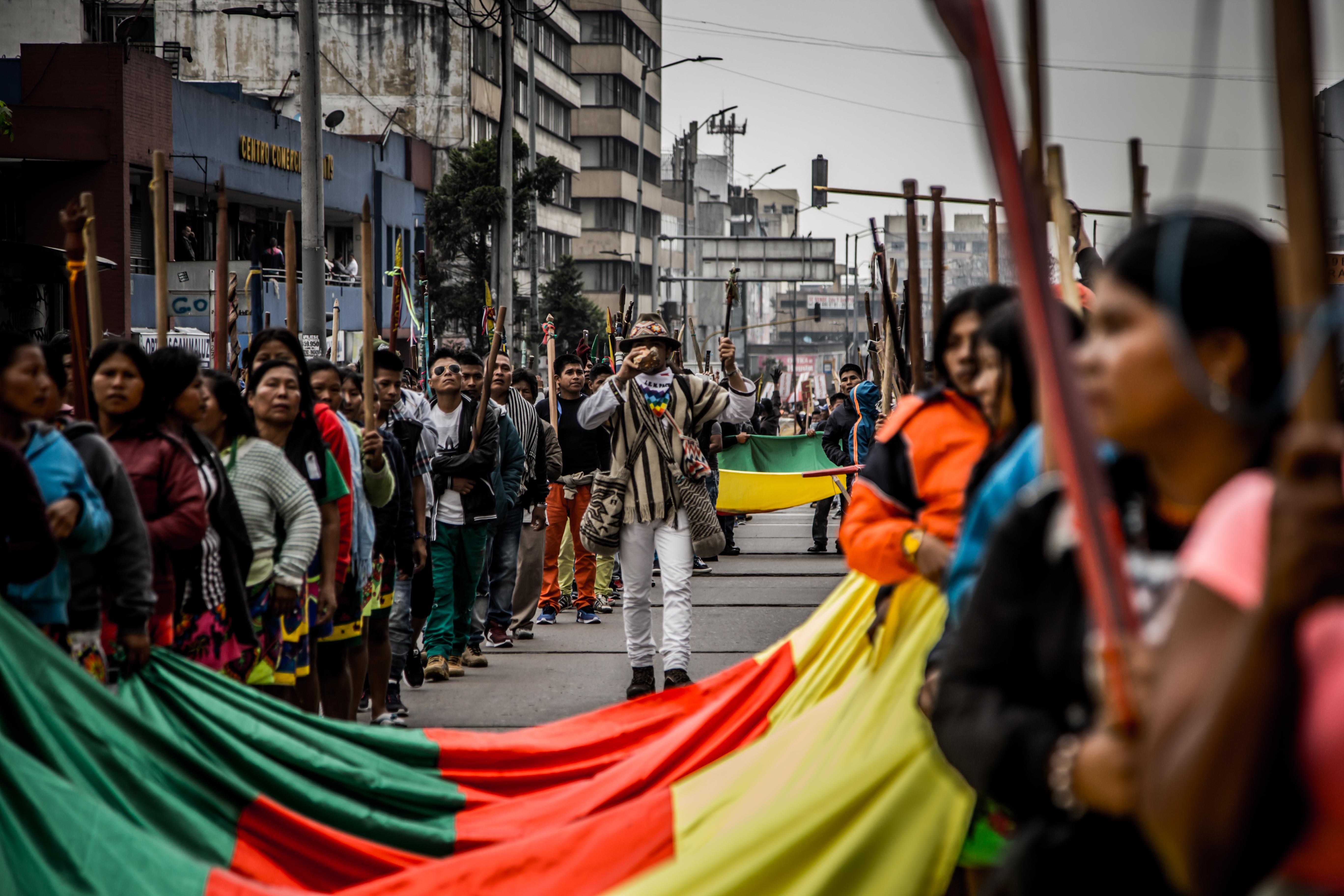 La crisis humanitaria detrás de la minga indígena que llegó a Bogotá