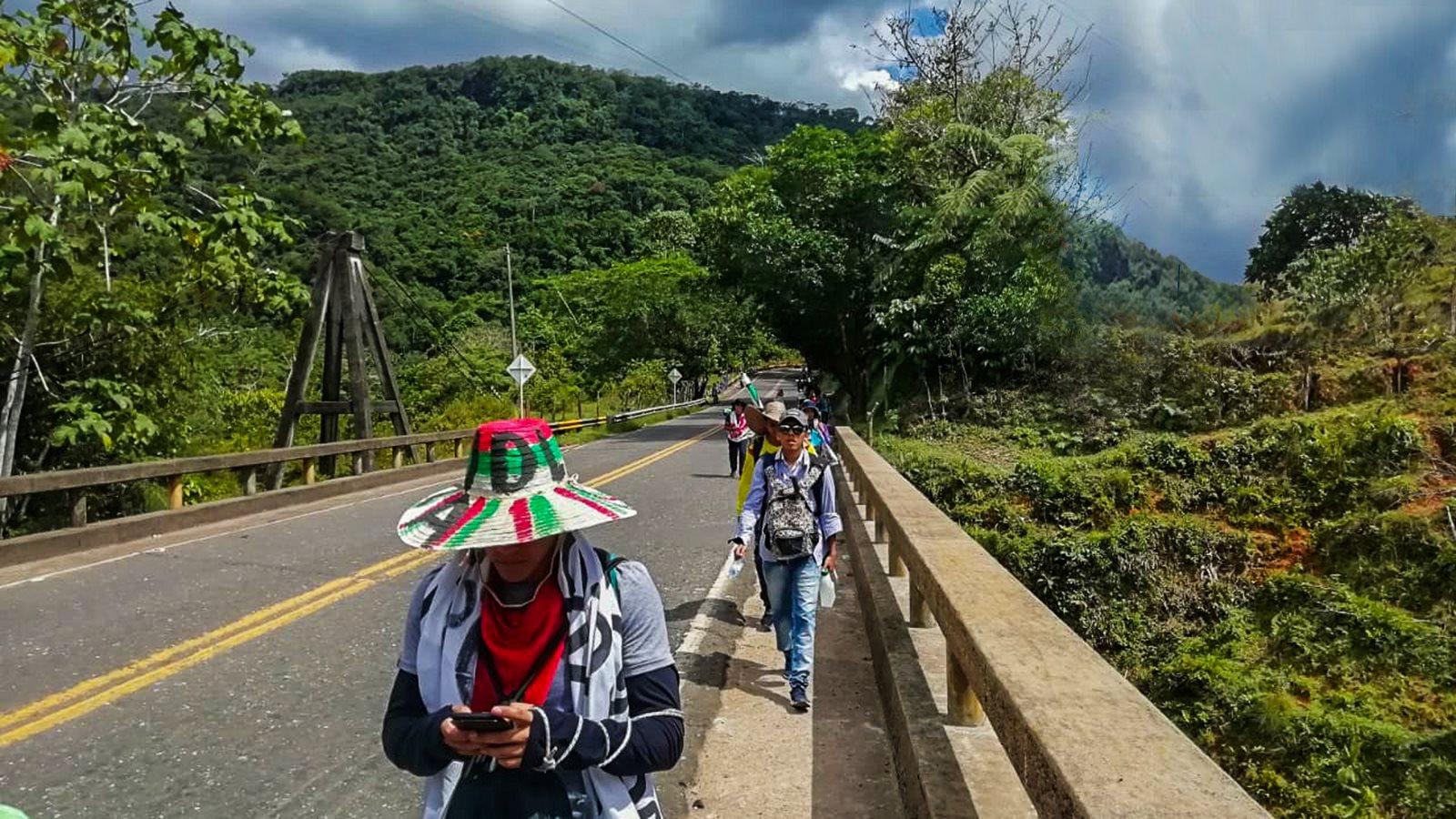 ¡500 kms! La épica marcha estudiantil de los Uniamazónicos