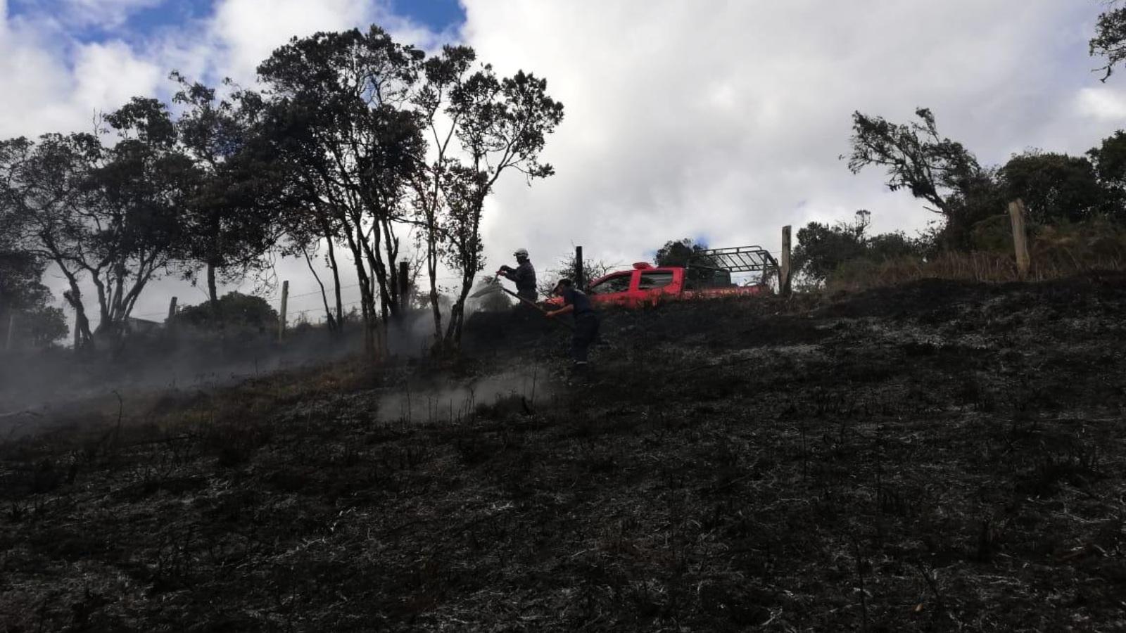 Alerta por incendios forestales en municipios de Cundinamarca y Boyacá