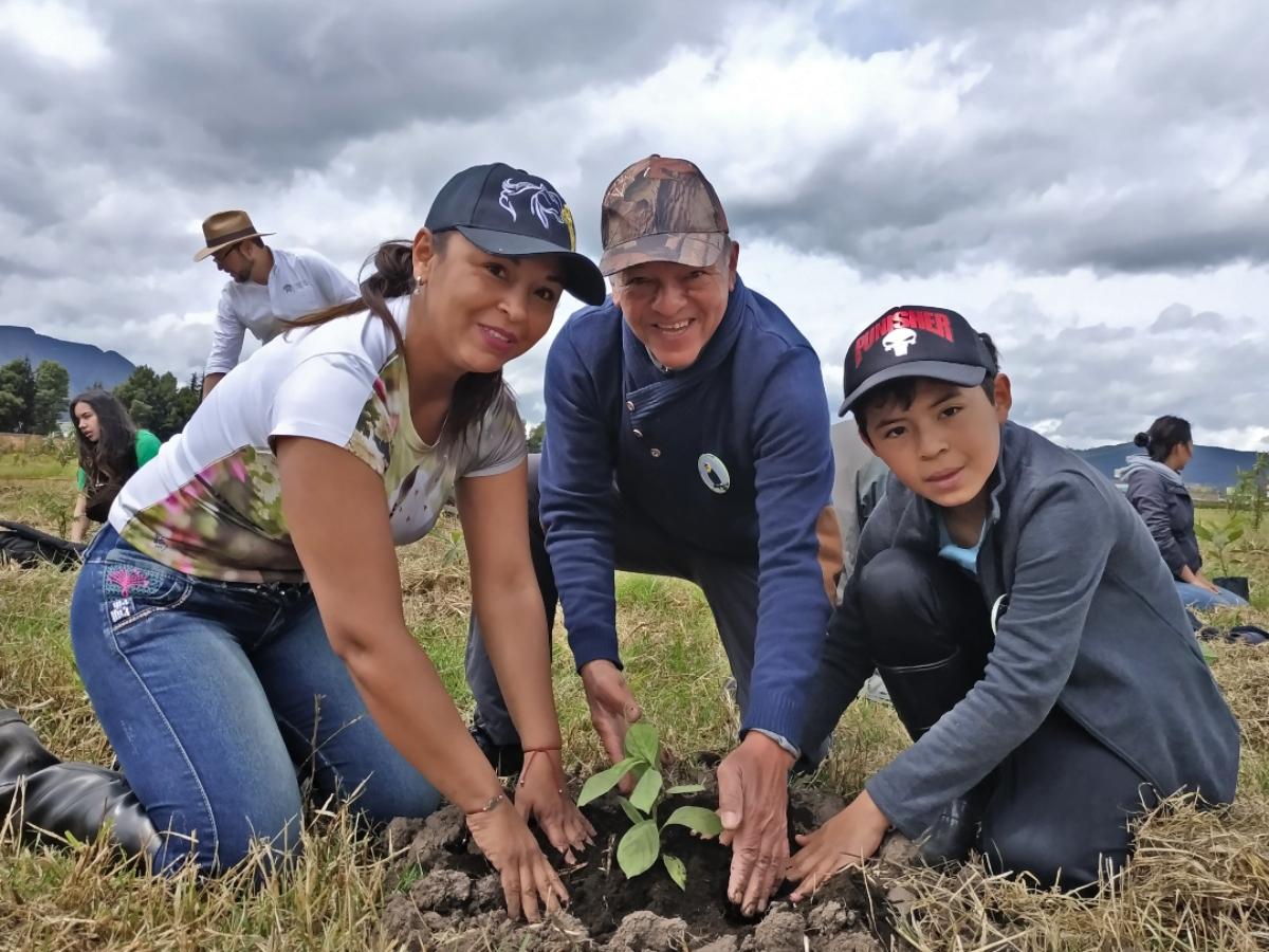 Siembran 1.100 árboles nativos en Tocancipá, uno de los epicentros industriales de Cundinamarca