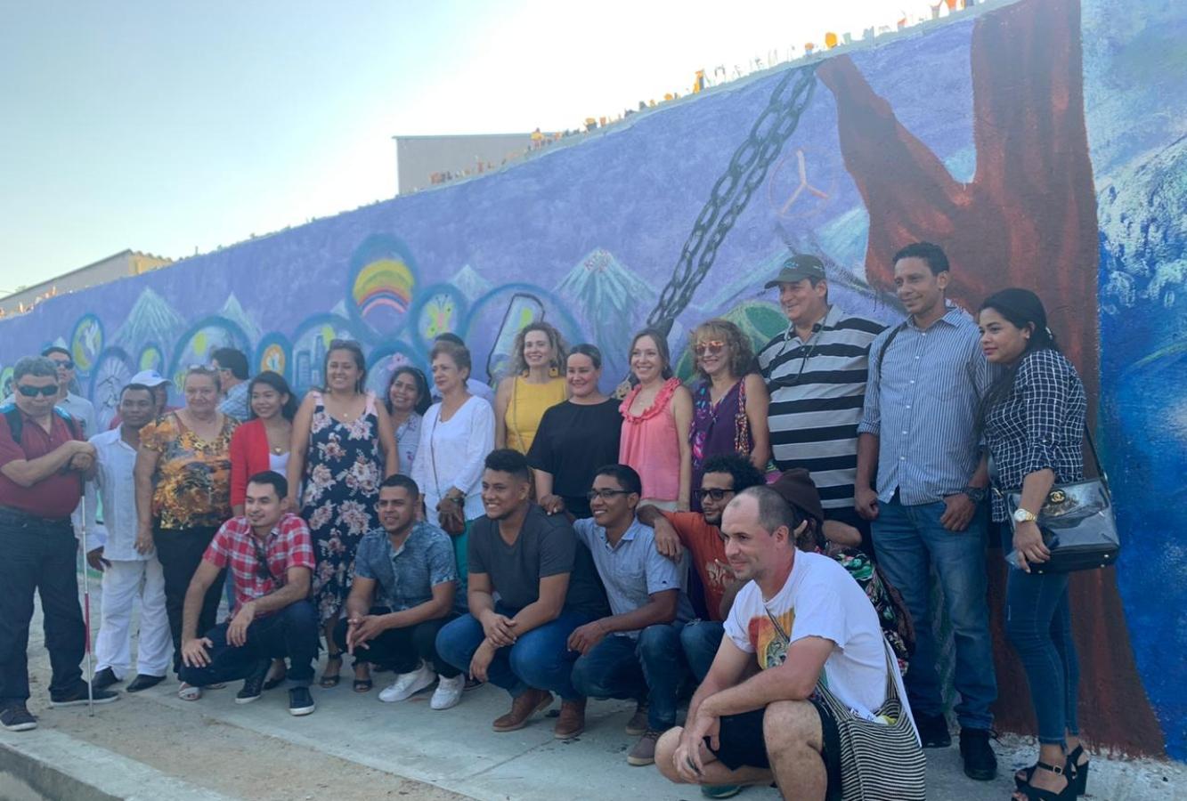 La obra de arte que cuenta la historia del barrio más grande de Santa Marta