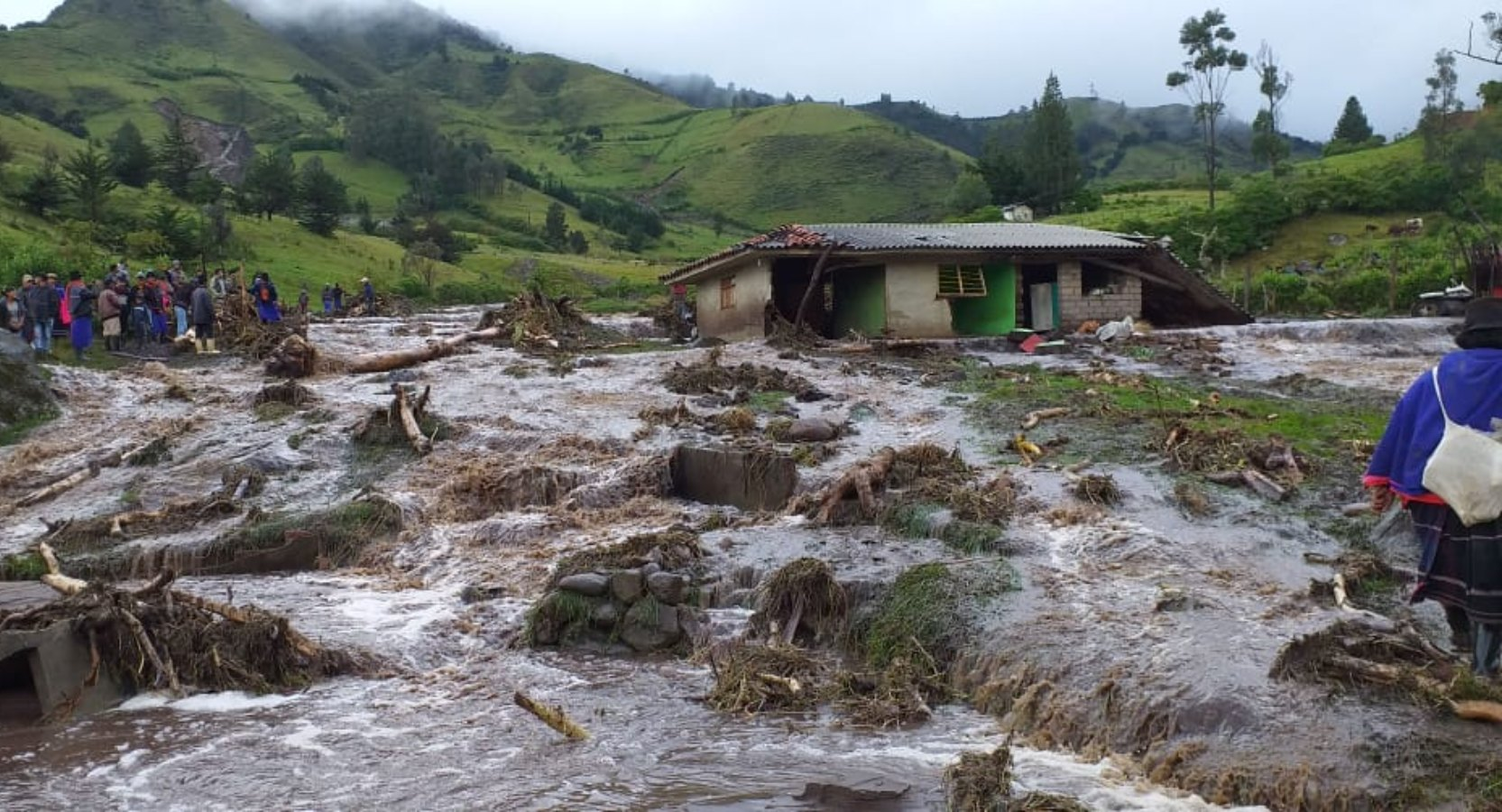 Indígenas de Silvia, Cauca, piden ayuda tras desbordamiento de varios ríos