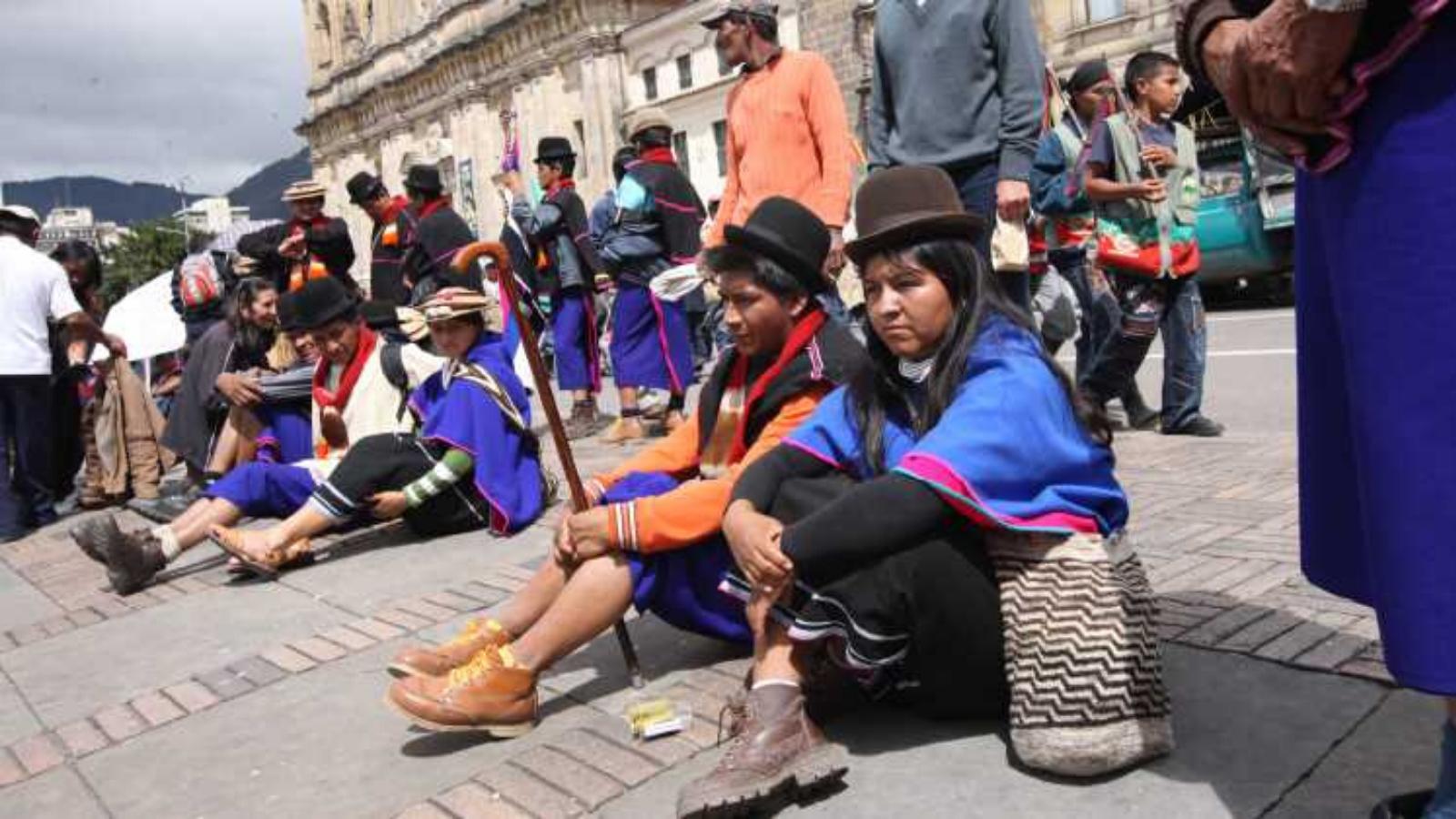 Indígenas en Bogotá hacen vaca en internet para enfrentar la cuarentena