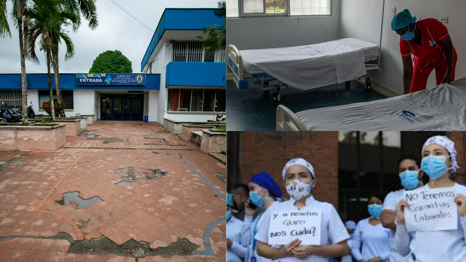 Protestas, renuncias y cese de actividades: la dura realidad de hospitales en varias regiones del país