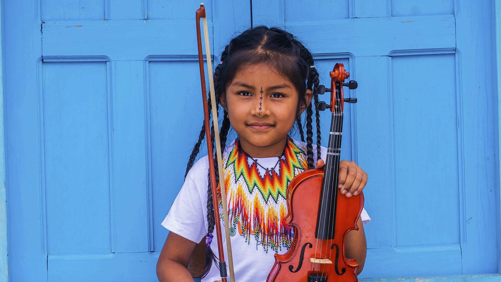 Así es la primera filarmónica indígena de Colombia