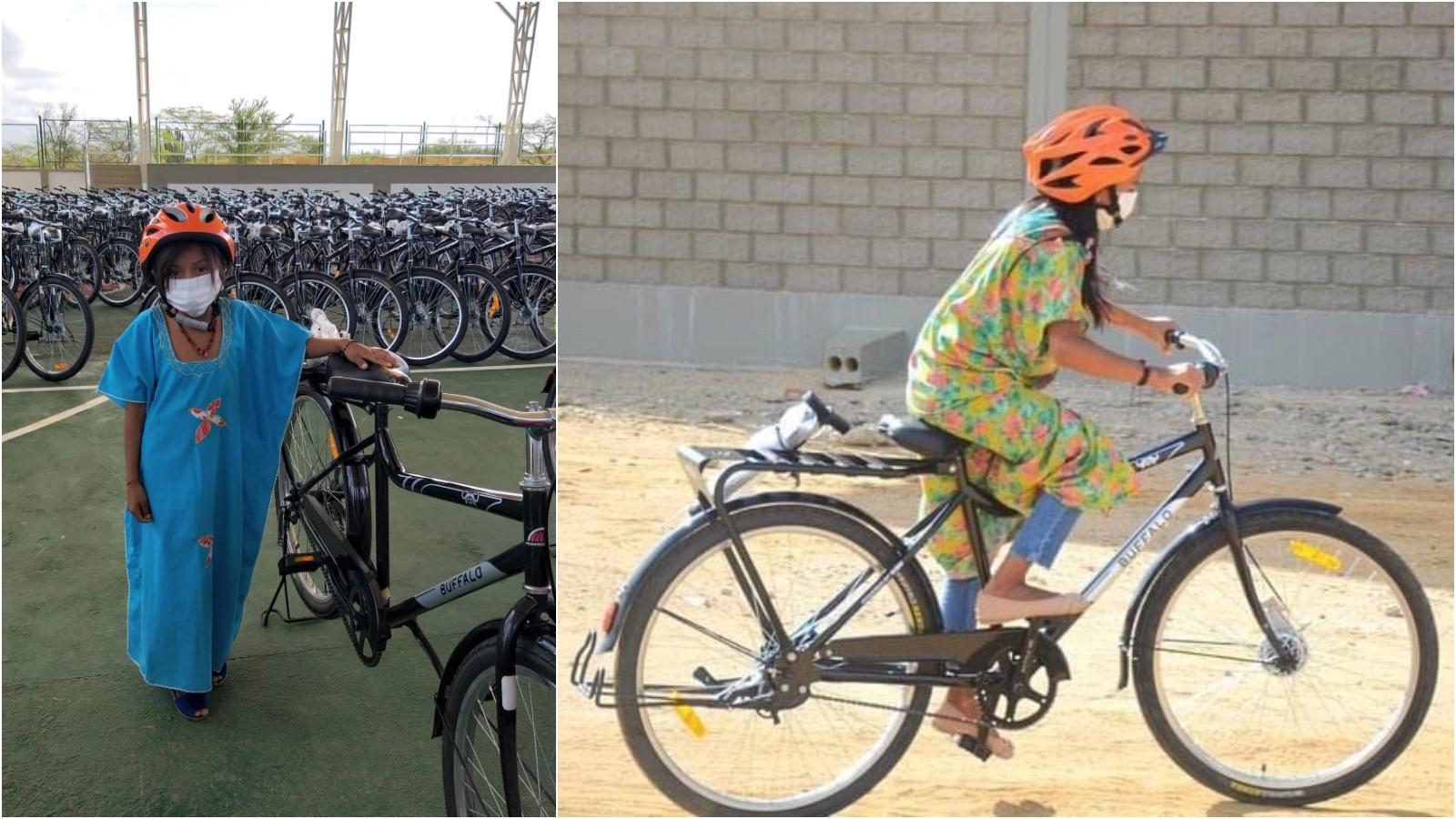 Un pelotón de bicicletas para los niños wayuu