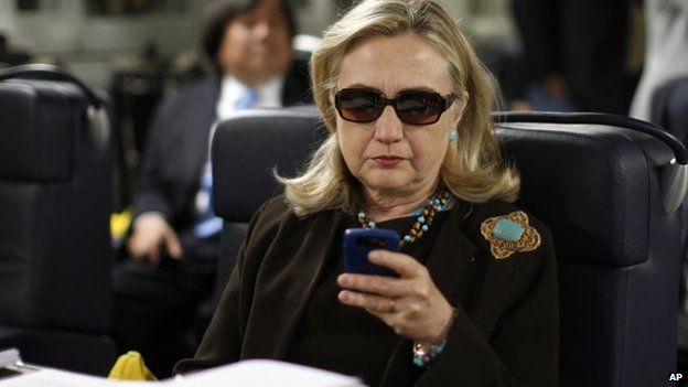 Clinton on phone
