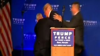 Trump Rushed Off Stage By Secret Service Agents At Nevada Rally