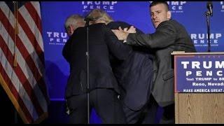 Intentan matar a Donald Trump en pleno mitin en Reno Nevada Video MOMENTO EXACTO