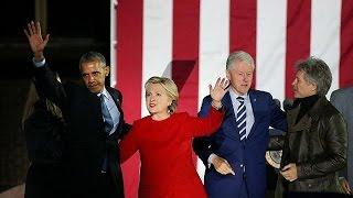 Record d'affluence pour l'avant-dernier meeting d'Hillary Clinton – null
