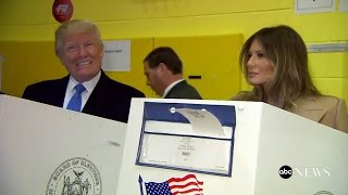 Donald Trump Votes with Melania, Ivanka