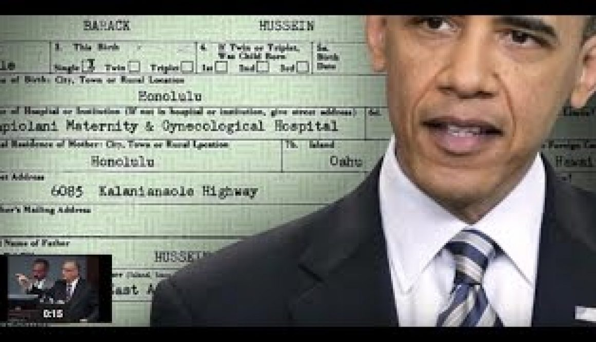 """TCR BREAKING """"President Trump""""Won't Forget Obama's Birth CertificateHere It Comes"""