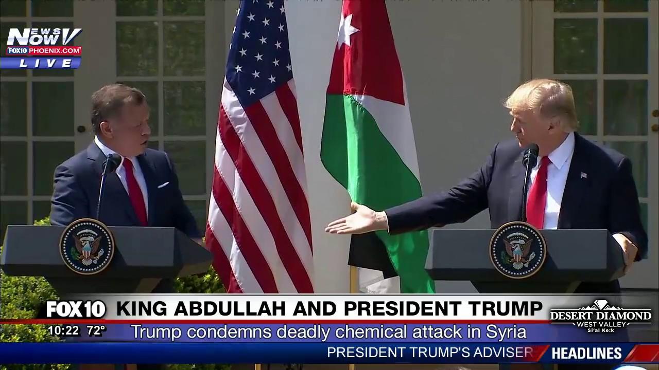 FULL-PRESS-CONFERENCE-President-Trump-and-King-Abdullah-Speak-in-White-House-Rose-Garden-FNN