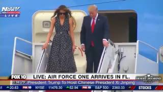 WATCH-President-Trump-Melania-and-Ivanka-Trump-Arrive-In-Florida-On-Air-Force-One-FNN
