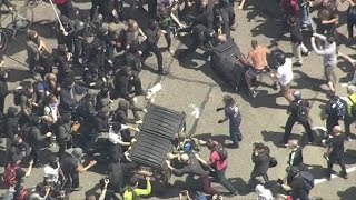 Protesters-fight-in-Berkeley-over-President-Donald-Trump