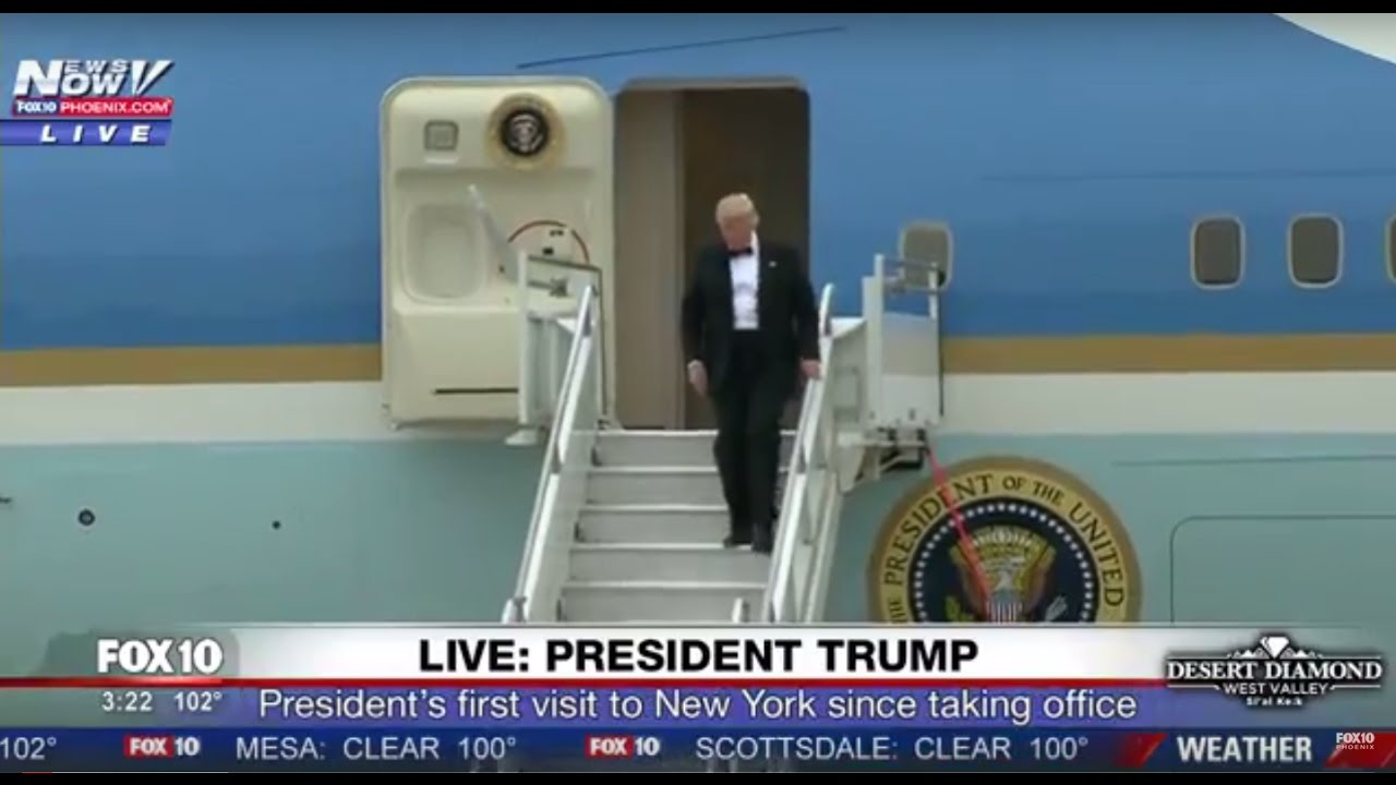 WATCH-President-Trump-Back-In-New-York-Wearing-A-Tux-Leaving-Air-Force-One-FNN
