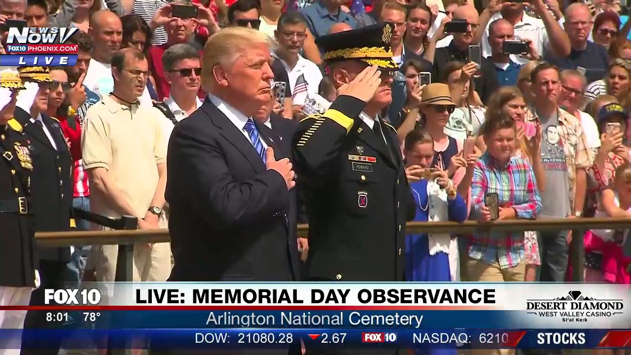 WATCH-President-Trump-At-The-Tomb-of-the-Unknown-Soldier