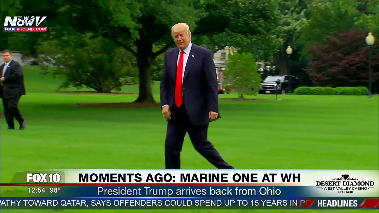WATCH-President-Trump-Arrives-Back-To-The-White-House-With-Huge-Fanfare